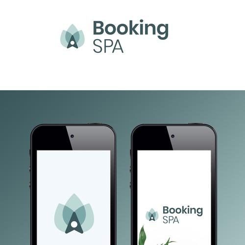Logo concept for a Booking Spa app