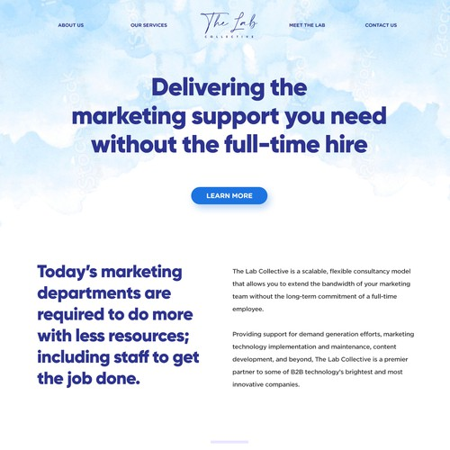 Feminine Consultant Home Page Design