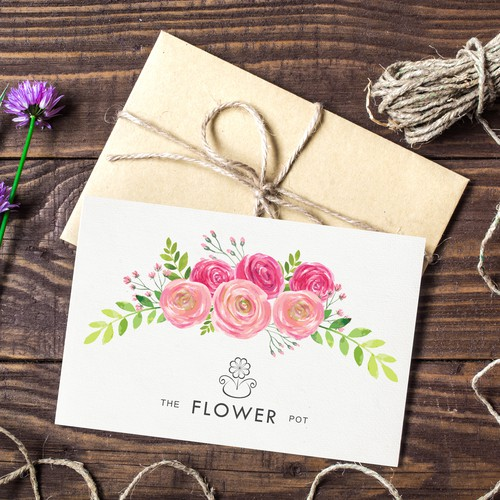 Greeting and invitation cards for The Flower Pot
