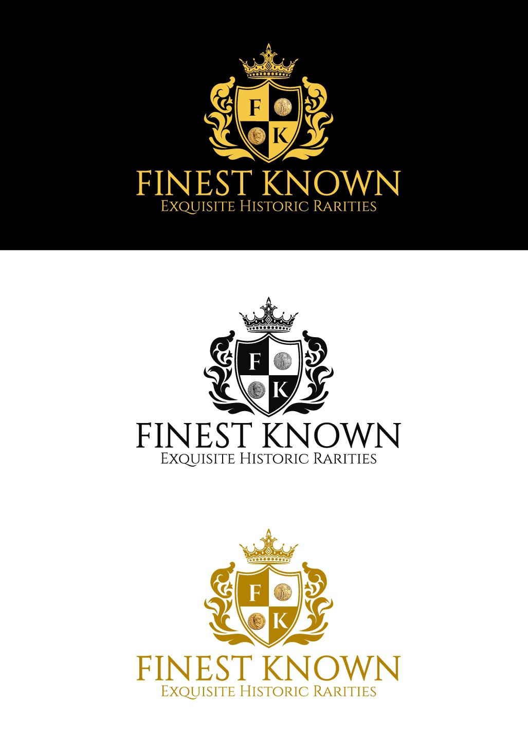 """""""FINEST KNOWN - Exquisite Historic Rarities"""" LOGO CONTEST OPPORTUNITY"""