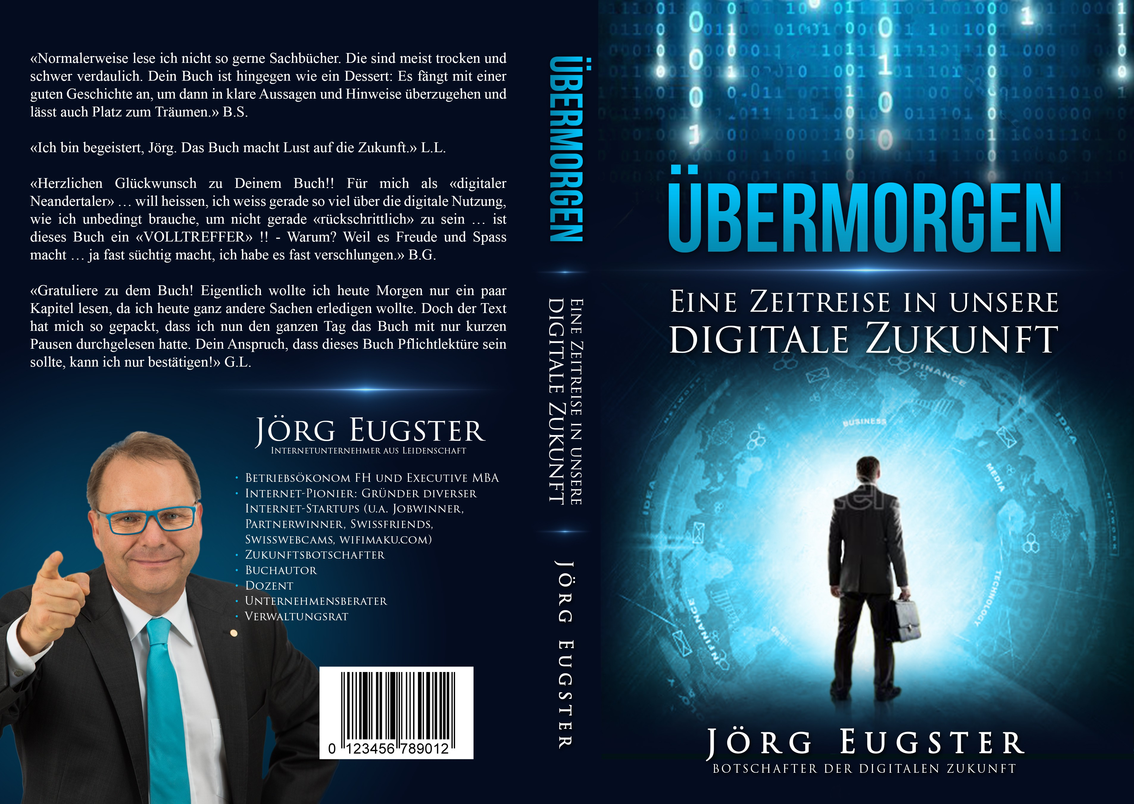 """A book cover design for my new book """"Übermorgen"""" is needed!"""