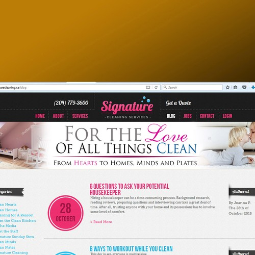 Banner Ad for signature