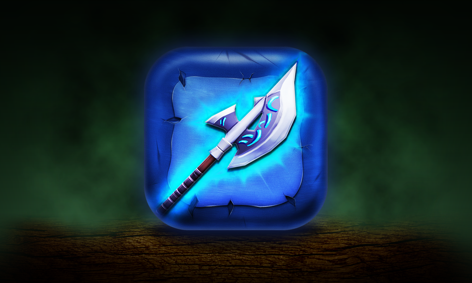 Mobile app icon for stylized game, Mageblade