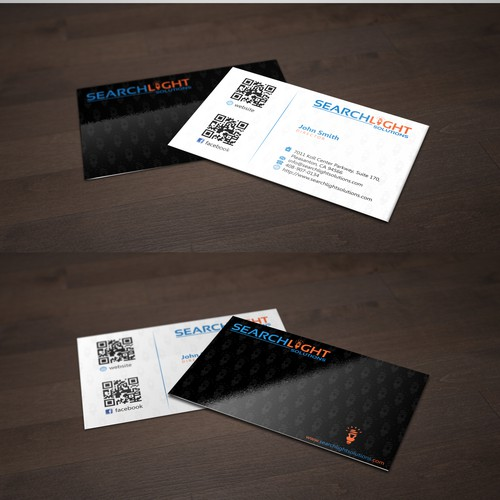 Create a winning business Cards for Searchlight Solutions!