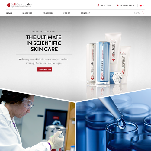 WebDesign for Cosmetic Cream