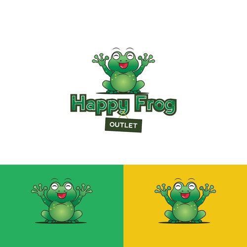 Character logo for Happy Frog outlet