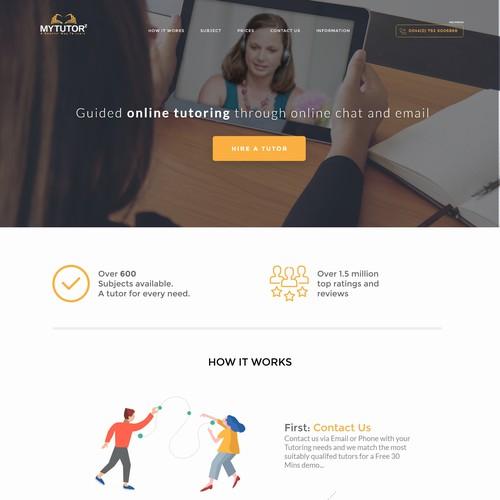 Online Tutoring Web Site Concept