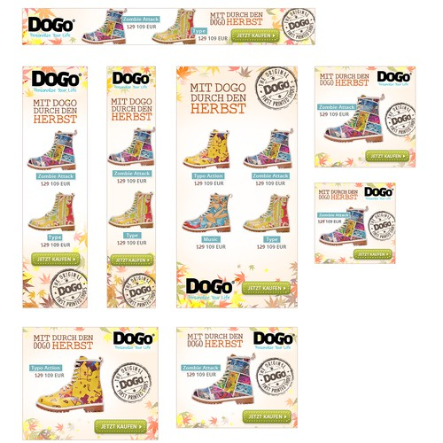 HTML5 Animated Banners for DOGO Shoes