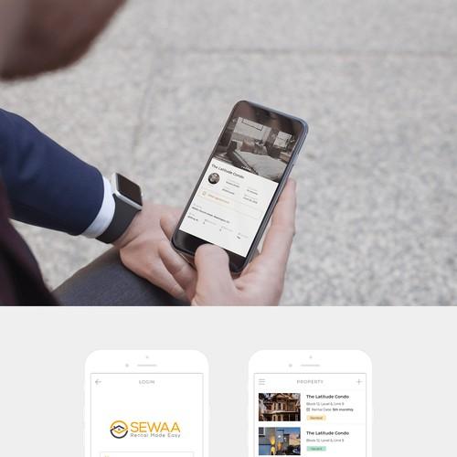 App design for a property rental system