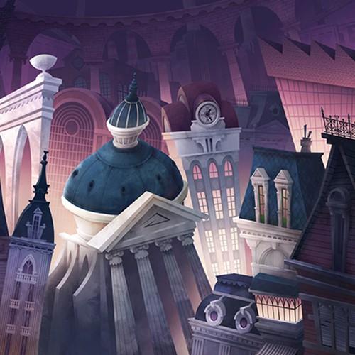 Cartoon cityscape