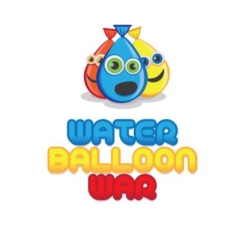 Create a fun hip logo for a water balloon fight event