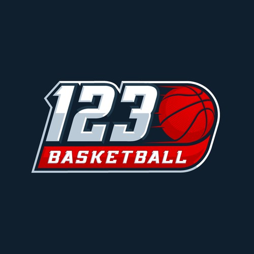 123 Basketball Logo