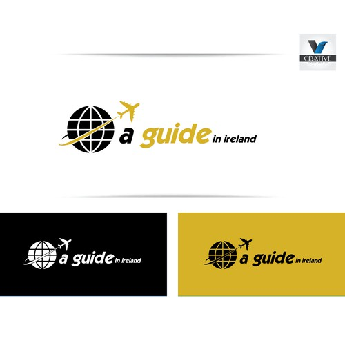 Create a clever and cool logo for A guide in Ireland