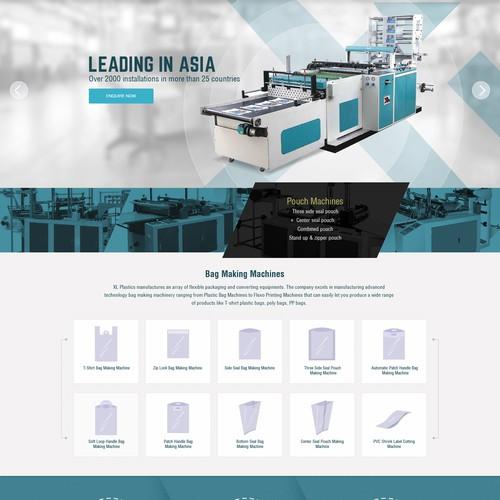 Web Design Concept for Plastics