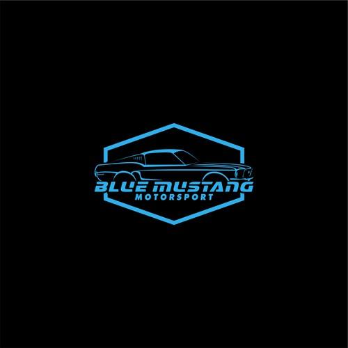 Blue Mustang Motorsport Logo