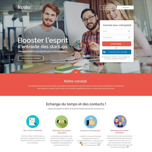 Lending page design