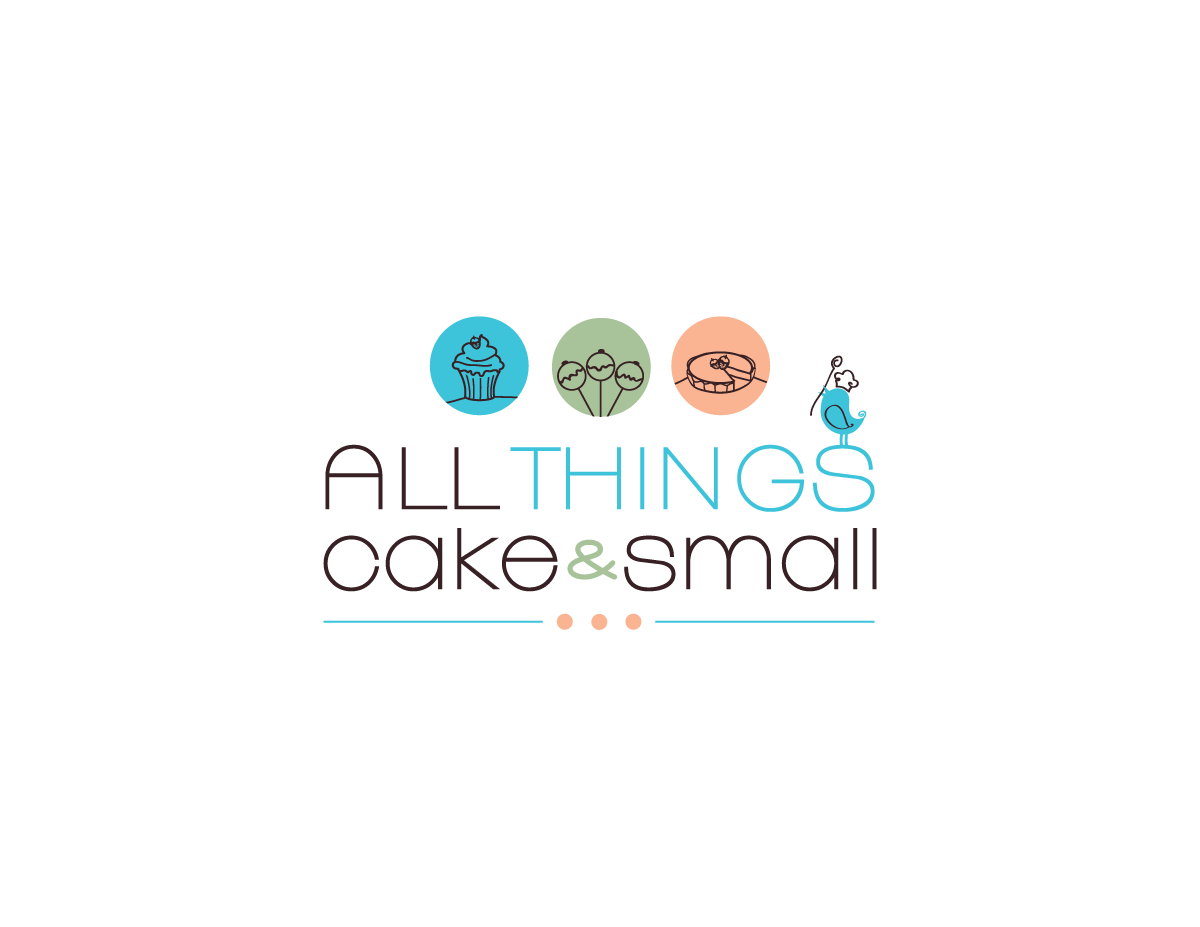 logo for All things cake and small