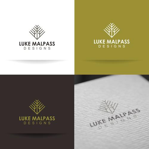 Simple logo concept for luke malpass design