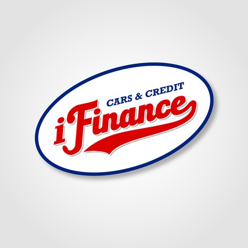 Vintage logo design for i Finance