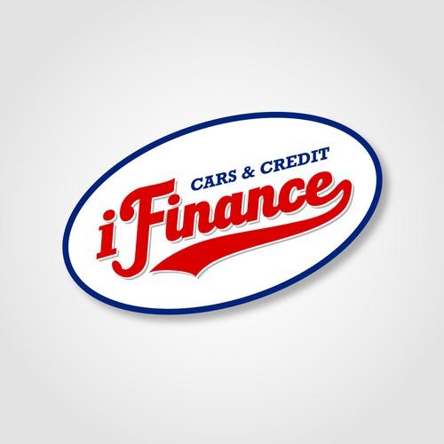 Vintage logo design for i Finance