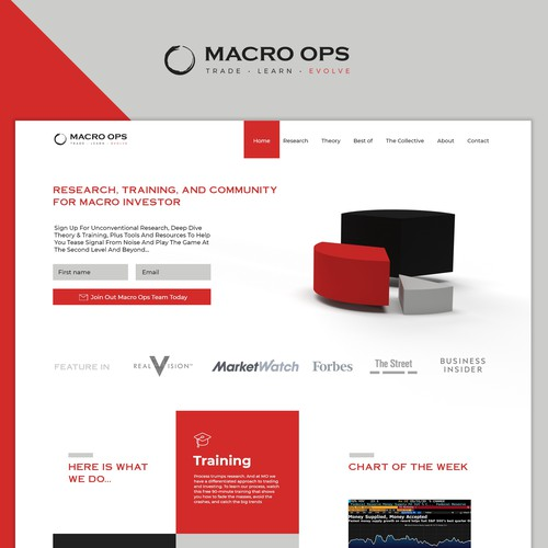 Landing page for MACRO OPS