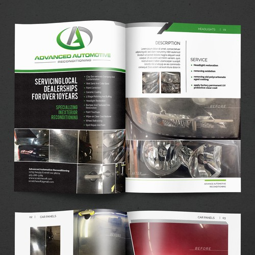 Magazine Cover and Layout for Advanced Automotive