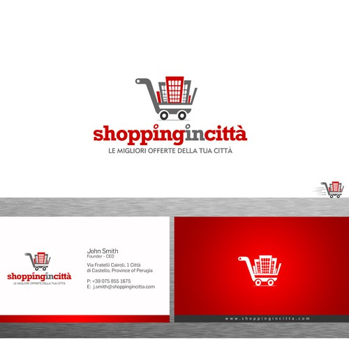 Help Shoppingincittà (in English means Cityshopping) with a new logo and business card