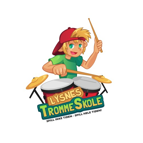 Logo Design for Lysnes Trommeskole