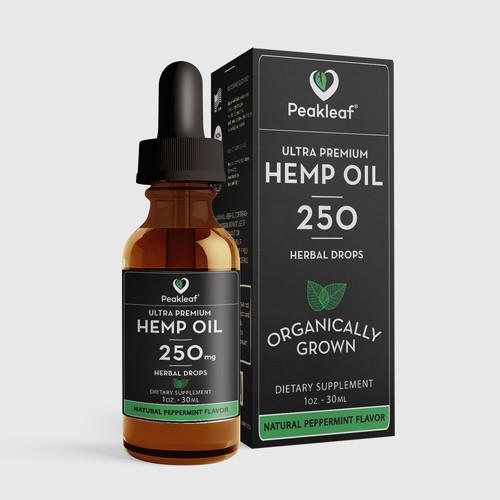 Hemp Oil Package Design