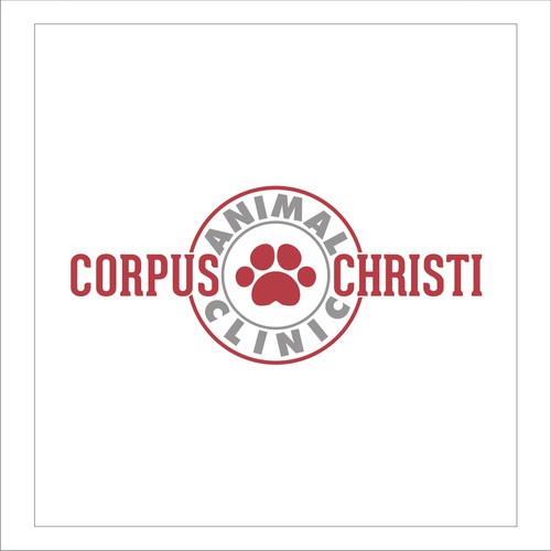Create a paw print logo that incorporates the name of our clinic