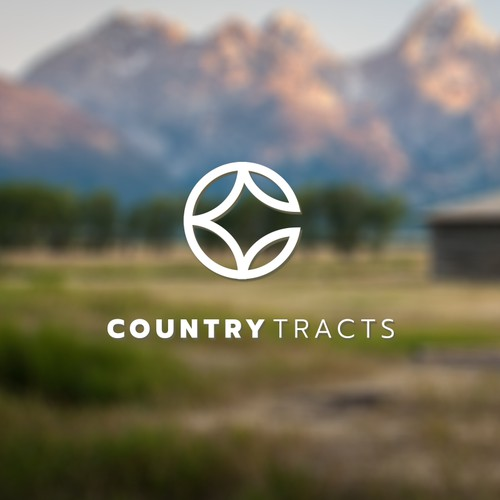 Modern minimalist logo for country tracts.