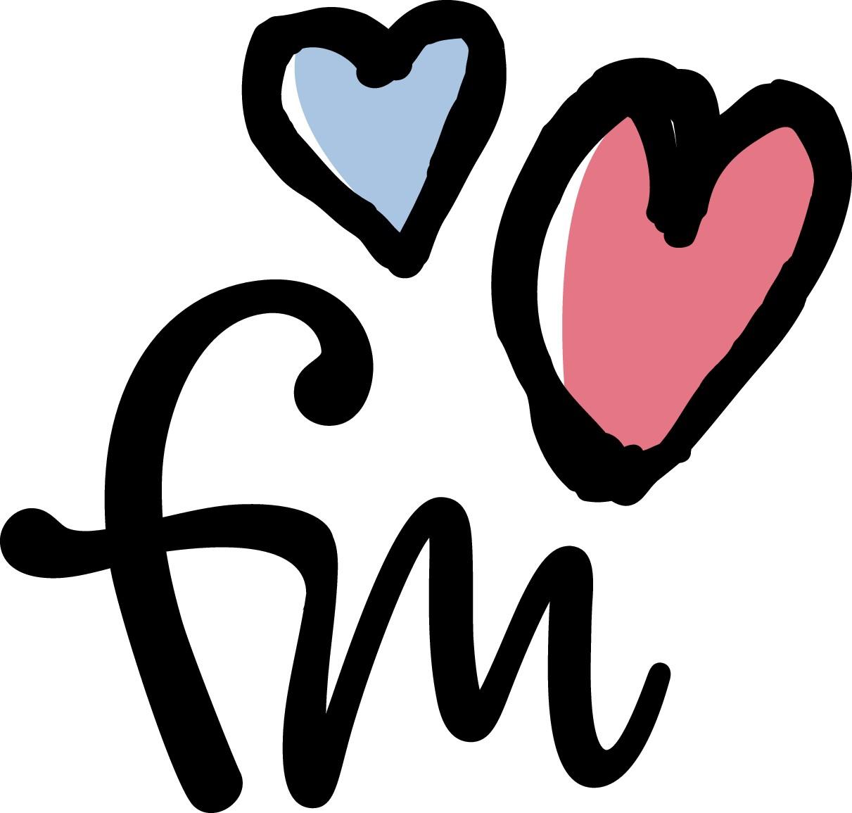 """Initials of our logo """"felix & mina"""""""