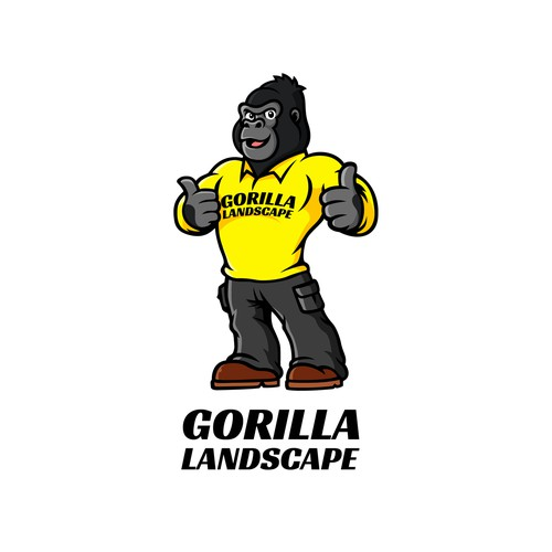 Put a Gorilla in a lawn care uniform.