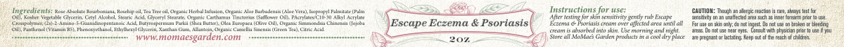 Hello Maria! I need a label for my new product: Escape Eczema & Psoriasis