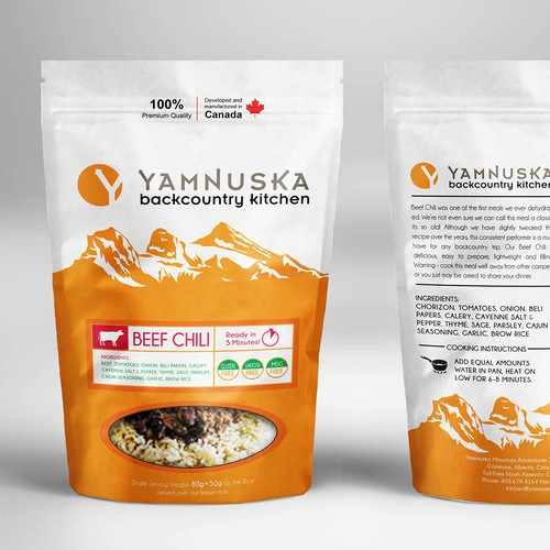 New Backcountry Food Retail Package targeted to the outdoor market