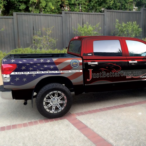 Need an eye-catching, creative truck wrap for automotive dealer