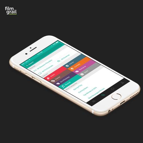 film grail app design