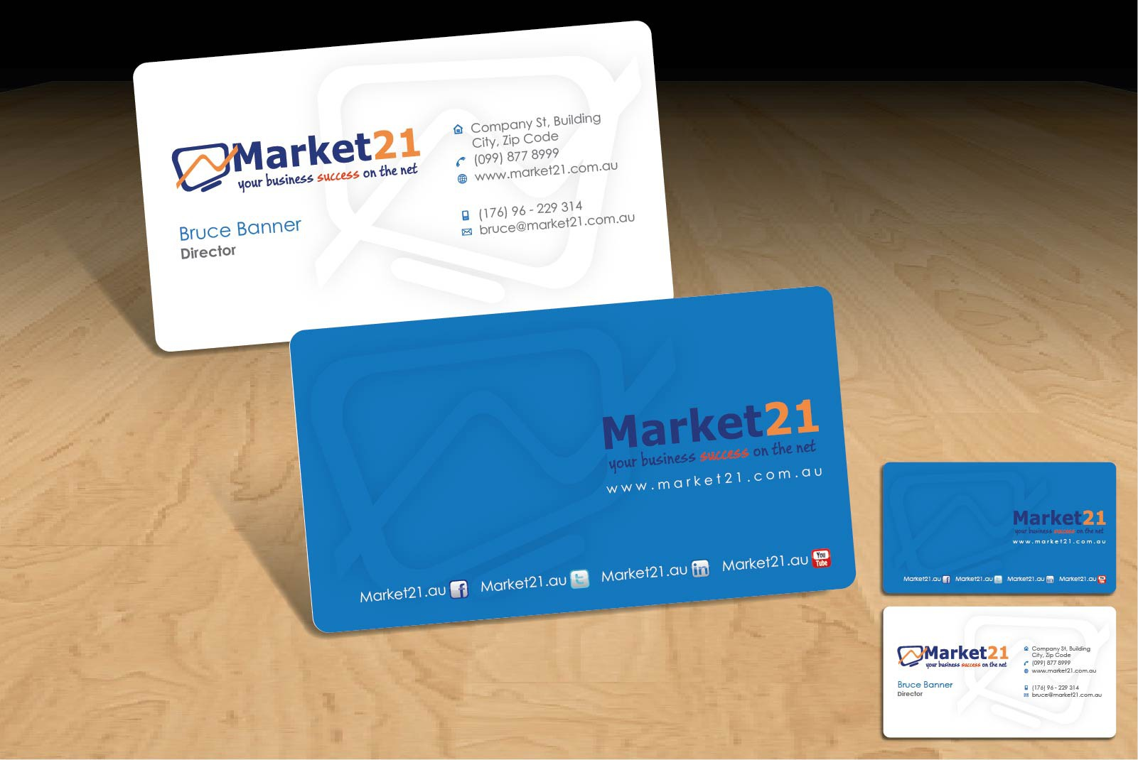 Market 21 needs a great business card