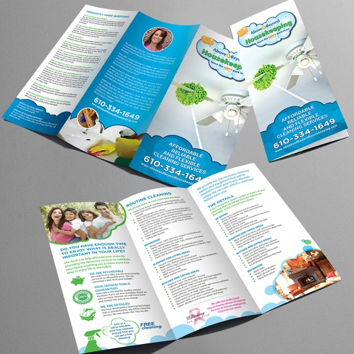 Brochure design for Above and Beyond Housekeeping