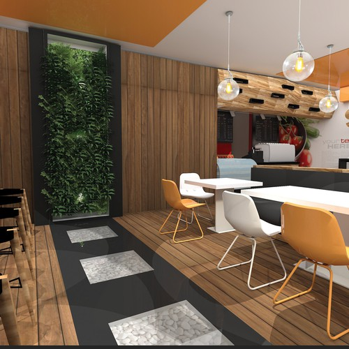 Fast food restaurant interior concept