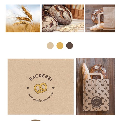 logo and identity for a german bakery
