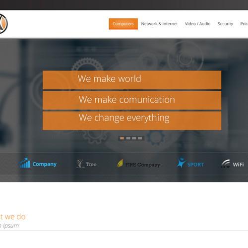 Russian IT company website design