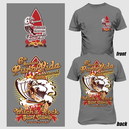 6th Pura vida invitational tshirt design
