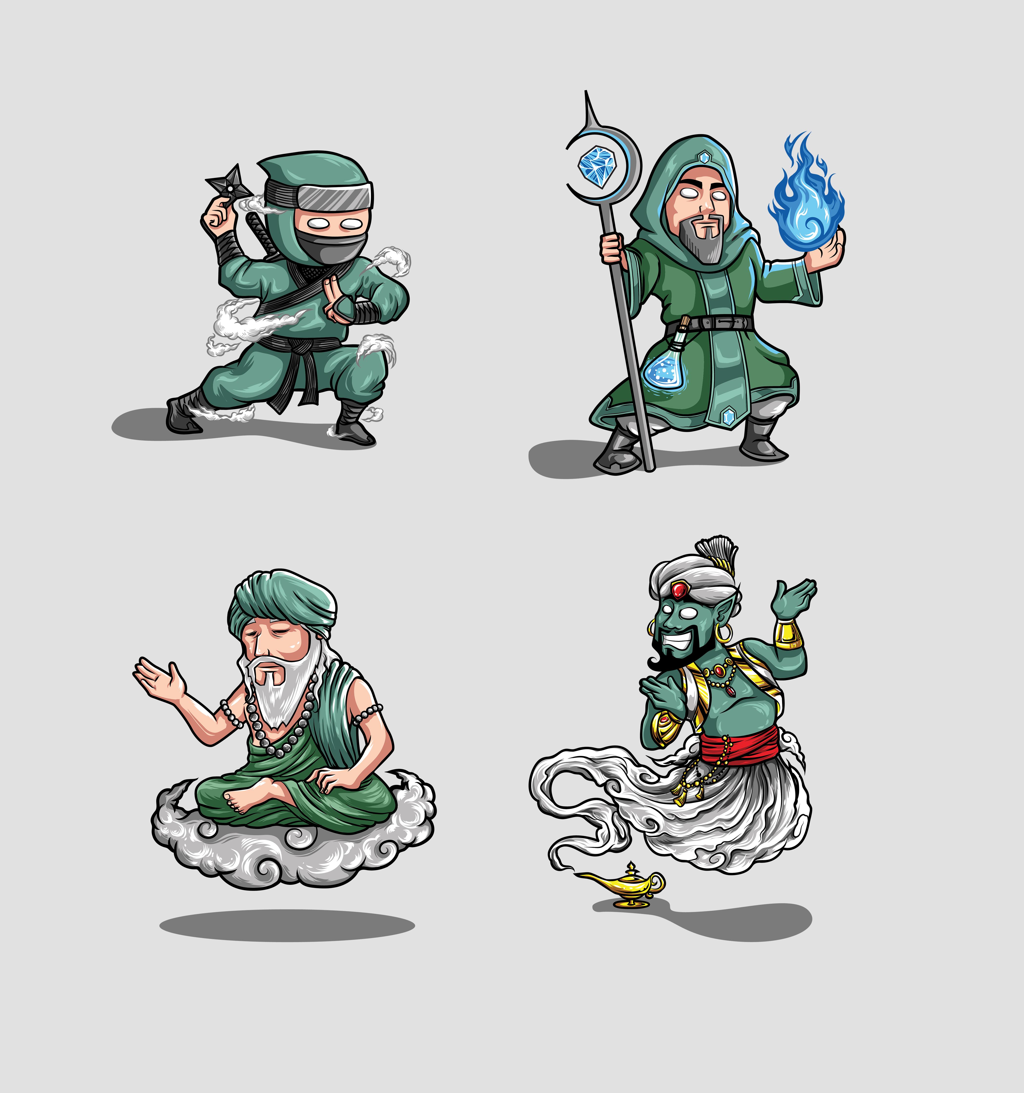 4 Mascots