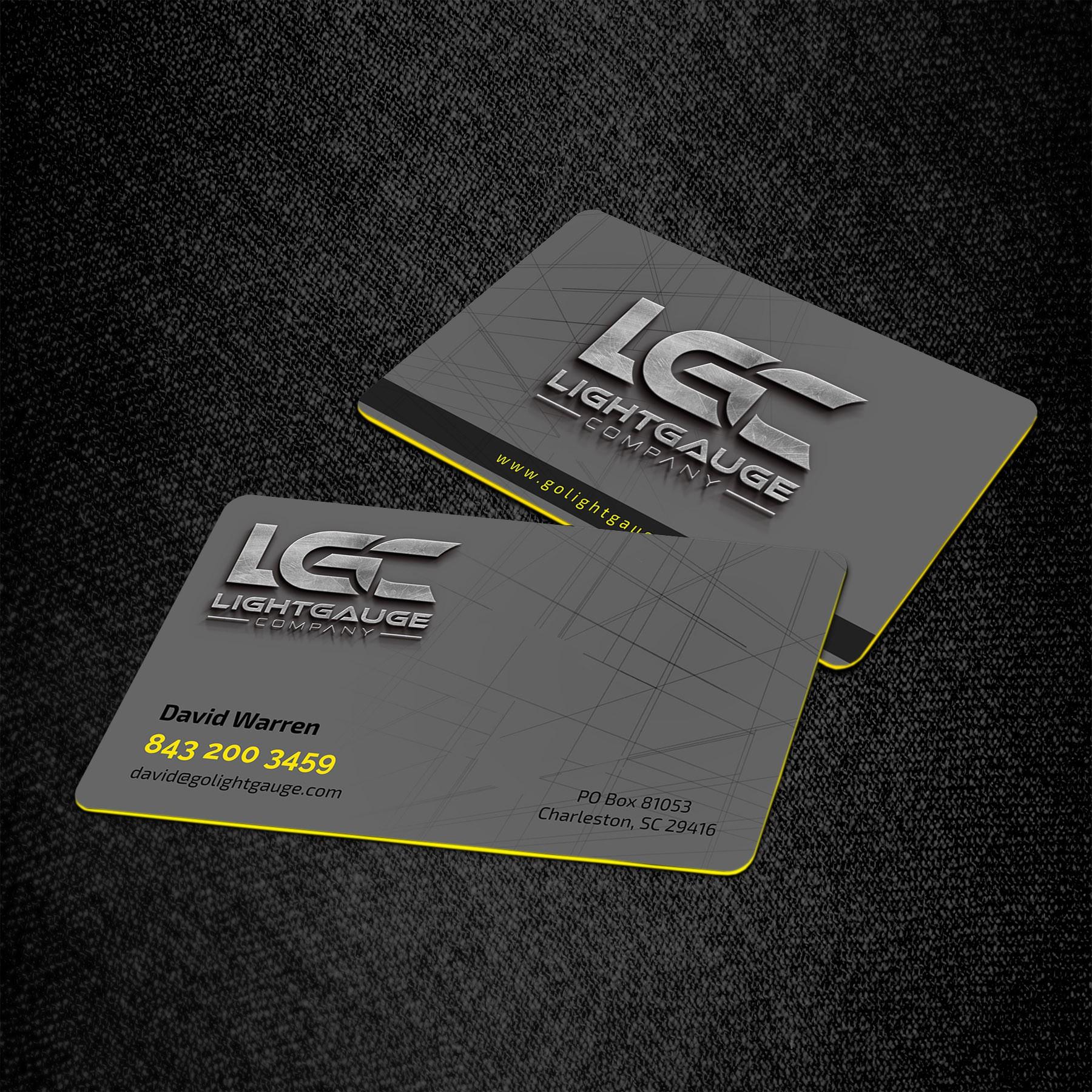 Lightgauge Business Cards