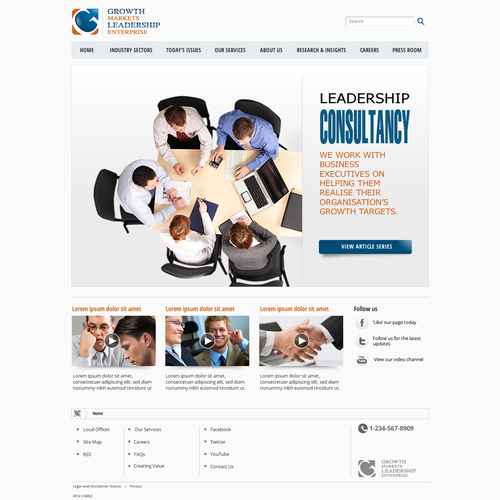 Create the next website design for GMLE