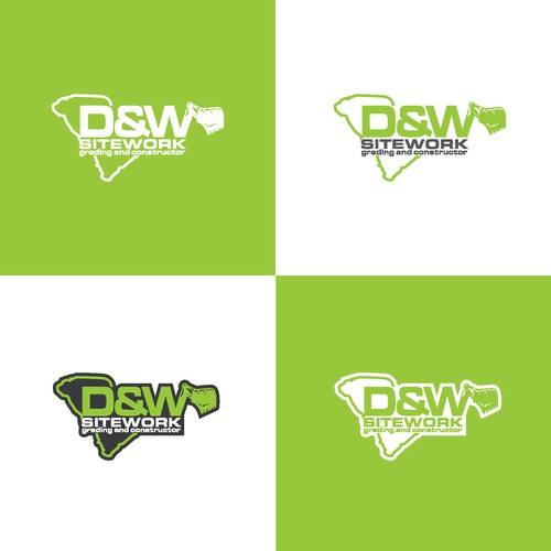 logo concept for d&w sitework