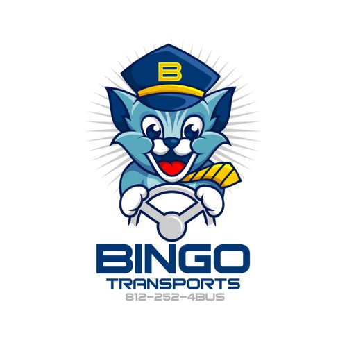 Logo Mascot for Bingo Transports