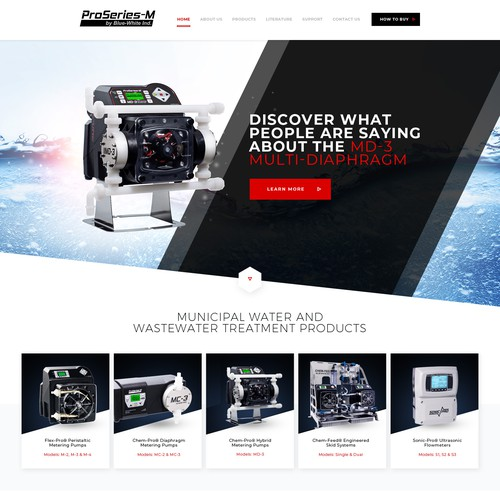 ProSeries-M Website design