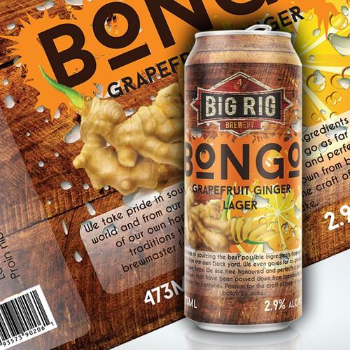 BONGO Big Rig Brewery Beer - LABEL NEEDED